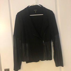 Jessica Simpson black moto style jacket